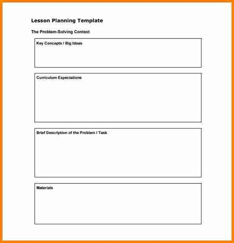 Lesson Plan Template Word 6 Elementary Lesson Plan Template Word Penn Working Papers
