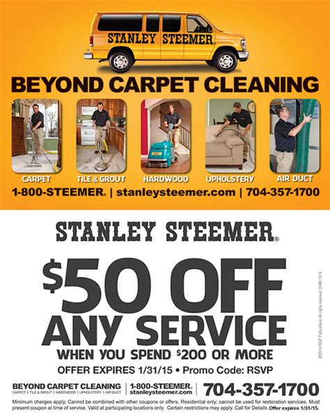 stanley carpet cleaners coupons book of stefanie