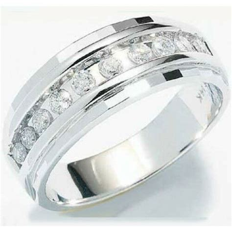 mens wedding rings white gold with diamonds 1 4ct mens wedding anniversary diamonds ring band 10k white gold chennel ebay