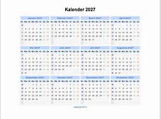 Kalender 2027 Jaarkalender en Maandkalender 2027 met