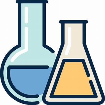Chemistry Education Lab Icon Chemical Laboratory Flasks