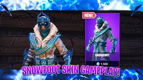 fortnite snowfoot skin gameplay fortnite  skins today