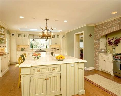 Traditional White Country Kitchen Painted Color-love All