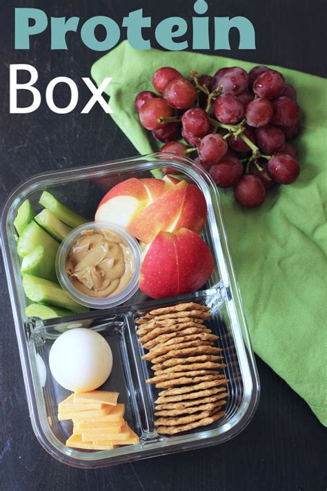 Protein Box (aka DIY Bistro Box) - Easy Lunch Idea from