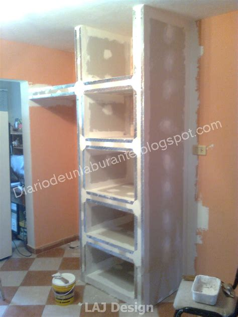 diario de  laburante mueble durlock en la cocina parte