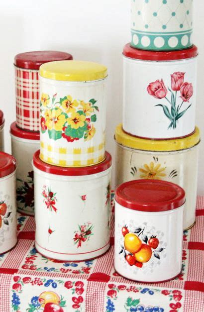kitchen cabinet repainting colorful vintage kitchen tins i used to lots of 2728