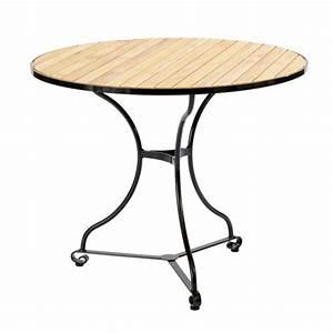 Tisch Rund 90 Cm : fontenay tisch rund 90 teakleisten garpa ~ Indierocktalk.com Haus und Dekorationen