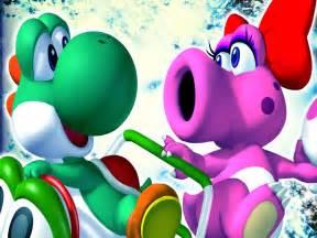 Yoshi and Birdo Mario Kart