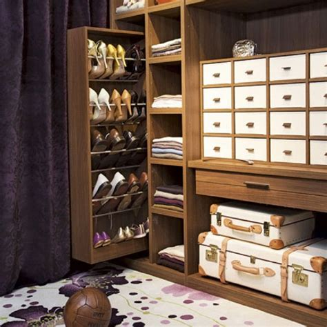 Ideas For Refinishing Kitchen Cabinets - pull out hidden cabinet shoe rack storage for saving small closet spaces ideas