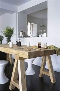 les 25 meilleures idees de la categorie table bois brut With meuble cuisine petit espace 1 cuisine de ferme moderne 25 idees creatives