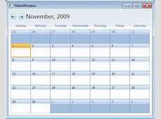 Styling the WPF Calendar to Resemble Outlook's Month View