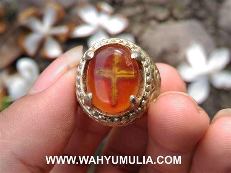 batu cincin akik bergambar salib kode 427 wahyu mulia