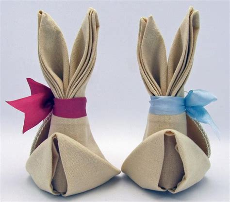 the of folding napkins for easter decorating creative easter decorations