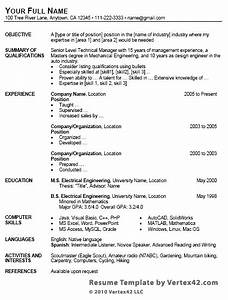 free resume template for microsoft word With how to do a resume on word