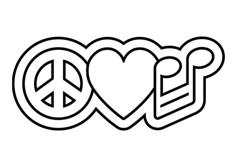 Peace Sign Coloring Pages Getcoloringpagescom