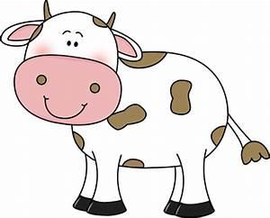 cow clip art | Cow with Brown Spots Clip Art Image - cute ...