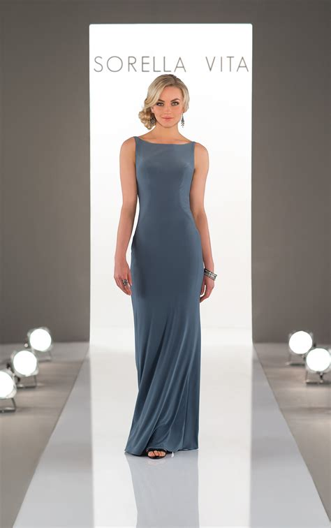 bridesmaid gowns high neck sheath bridesmaid dress
