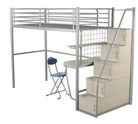 3ft single staircase bunk bed with storage cupboards chair