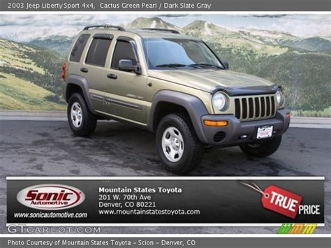 2003 green jeep liberty cactus green pearl 2003 jeep liberty sport 4x4 dark