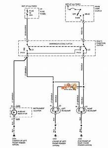 Mazda 95taurus Headlight Circuit - 555 Circuit