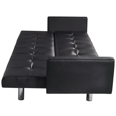 canap lit en cuir la boutique en ligne canapé lit en cuir artificiel noir