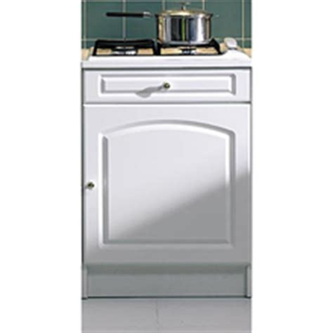 meuble bas pour plaque de cuisson larg 60 cm blanc