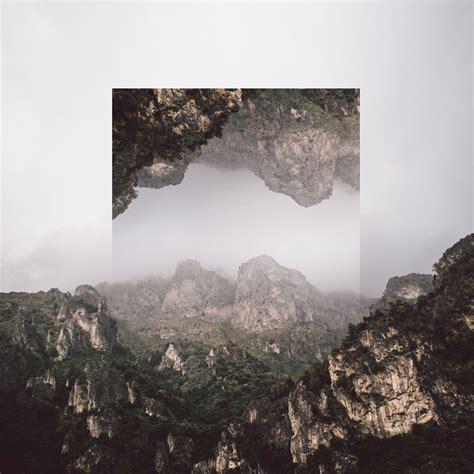 calm  soothing geometric landscape photo manipulations