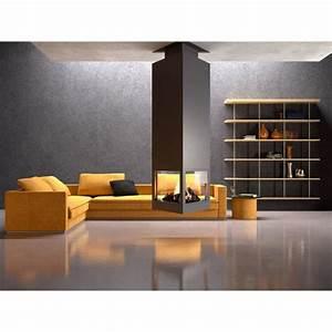 Cheminée Centrale Prix : chemin e m tallique centrale suspendue odyss e 11kw ch95 ~ Premium-room.com Idées de Décoration