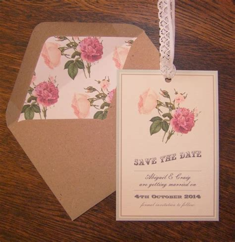 Knots and Kisses Wedding Stationery: Vintage Floral