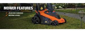 Black Decker 20 In  13-amp Corded Electric Walk Behind Push Lawn Mower-mm2000