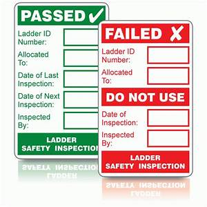 ladder safety inspection labels pass fail value pack With kitchen cabinets lowes with ladder inspection stickers