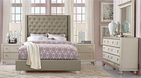 sofia vergara upholstered bed sofia vergara paris silver 5 pc king upholstered bedroom
