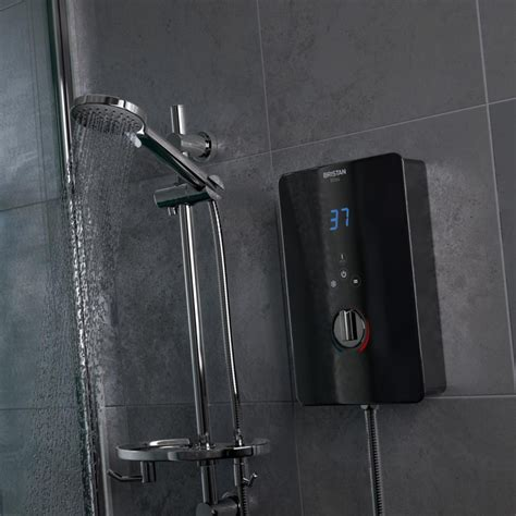 Electric Showers by Bristan Bliss 10 5kw Electric Shower Black Finish Bl3105 B