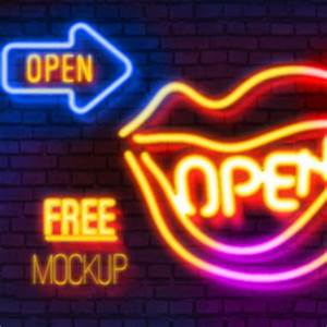 Neon Style shop Free Mock up