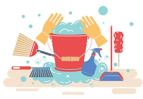 spring cleaning vector   vector art stock