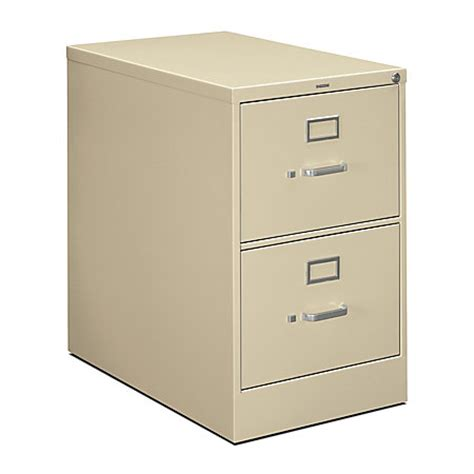 Locking File Cabinet Office Depot hon 210 series vertical filing cabinet size 2