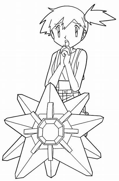 Pokemon Coloring Pages Misty Sheets Colouring Cards