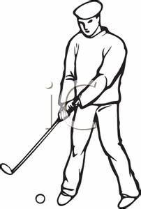 Golf Black And White Clipart - Clipart Suggest