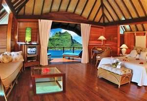 Bora Bora Inside Bungalows Over Water