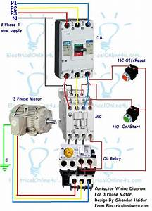 3 Phase Motor Contactor Wiring Diagram