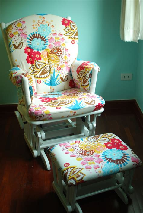 what i made for 3 reupholstered glider crafterhours