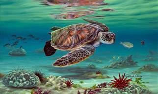 Hawaiian Sea Turtle Art