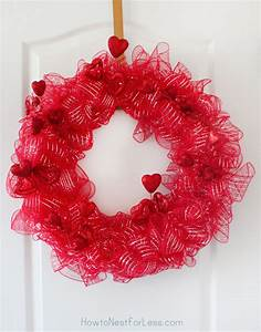 Valentine's Day Wreath (20 Minute Project) - How to Nest
