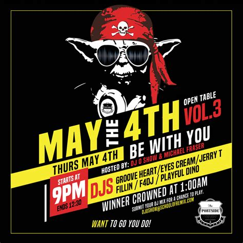 May The 4th Be With You - DJ Competition - Portside