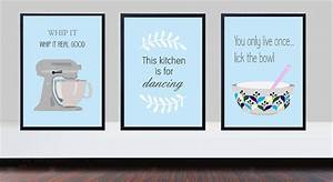 Duck egg blue kitchen prints, whip it good print, kitchen