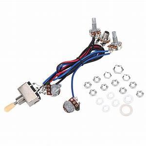 Lp Electric Guitar Pickups Wiring Harness Kit 2t2v 500k
