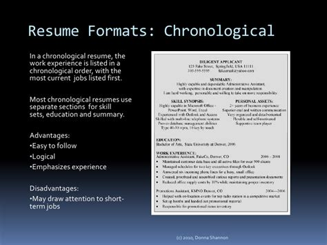 Chronological Resume Advantages And Disadvantages by Secrets To Writing An Outstanding Nanny Resume