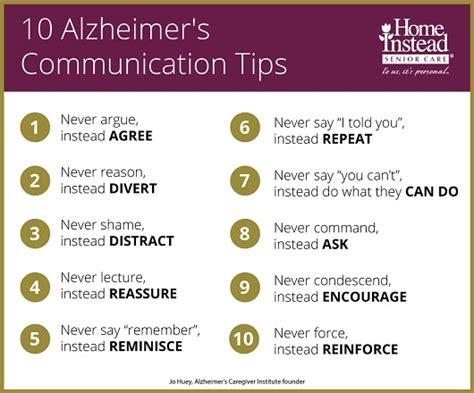 10 Communication Tips for Alzheimer's Families - Home ...