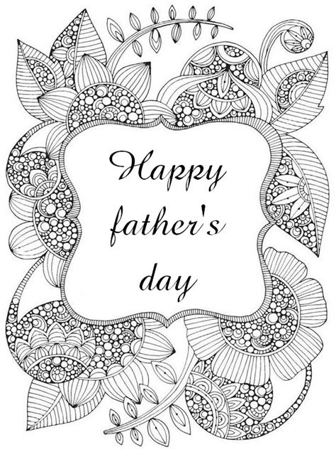 art therapy coloring page fathers day happy fathers day