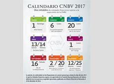 Calendario CNBV 2017 Comisión Nacional Bancaria y de